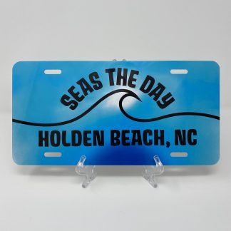 Holden Beach License Plate - Seas the Day