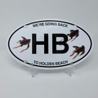 Holden Beach License Plate - Turtles Going Back