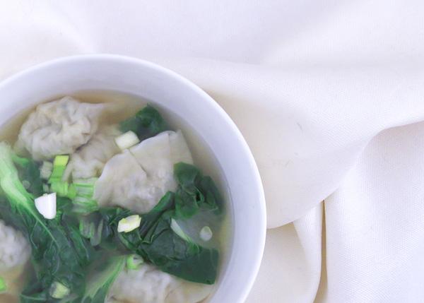 Bok Choy & Wonton Soup