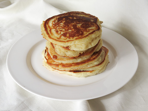 Fluffy Pancakes - Whether they are plain, buttered, maple syrup slathered, jazzed up with cinnamon, or have fresh fruit added, these fluffy pancakes are sure to please!