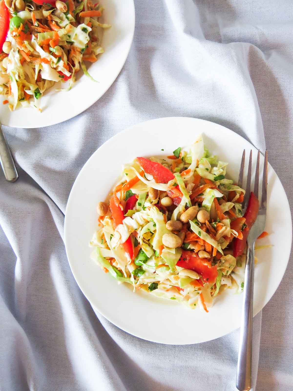 Ginger-Peanut Punch Asian Coleslaw