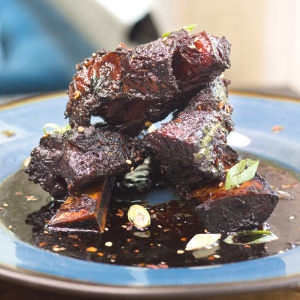 Korean Style Smoked Short Ribs - Yes please! Savory, spicy, slightly sweet, and decadent!