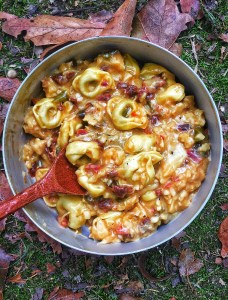 Chicken Tortellini & Sun Dried Tomatoes - creamy, delicious lightweight meal for your next adventure!