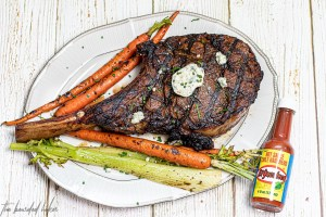Buffalo Style Ribeye - A simple, home made buffalo style sauce is just what your ribeye needs. Oh, and don't forget the blue cheese compound butter!