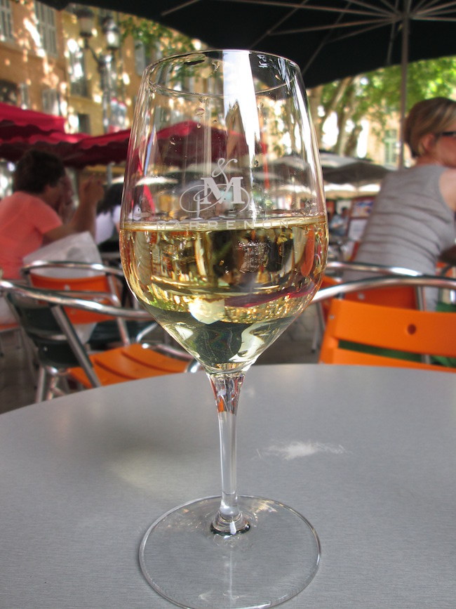 After a busy travel day, sometimes a glass of wine at an outdoor cafe is the only answer. :)