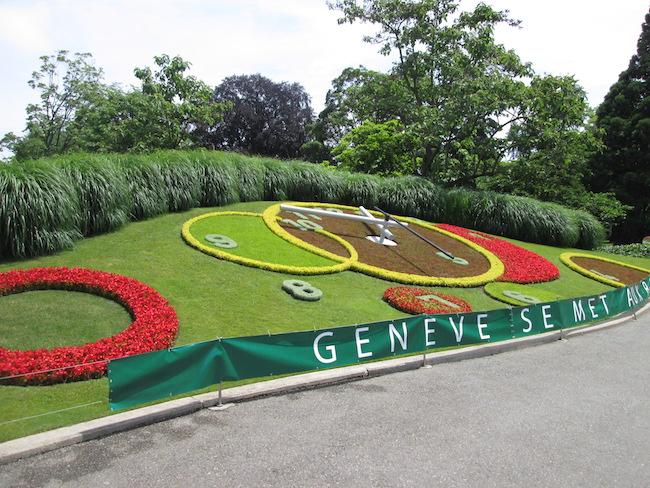 Floral Clock Geneva Switzerland