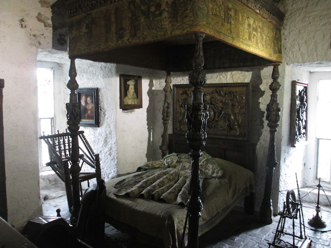 A bed chamber inside Bunratty Castle