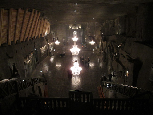 This entire room is carved from salt. Incredible!