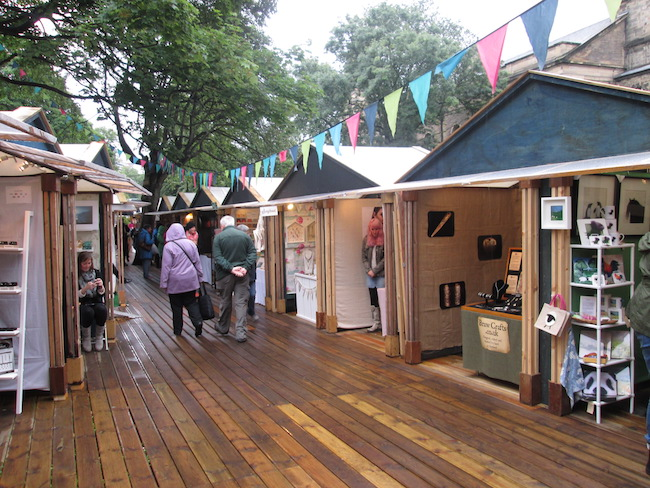The market featured hundreds of beautiful booths filled with handmade crafts