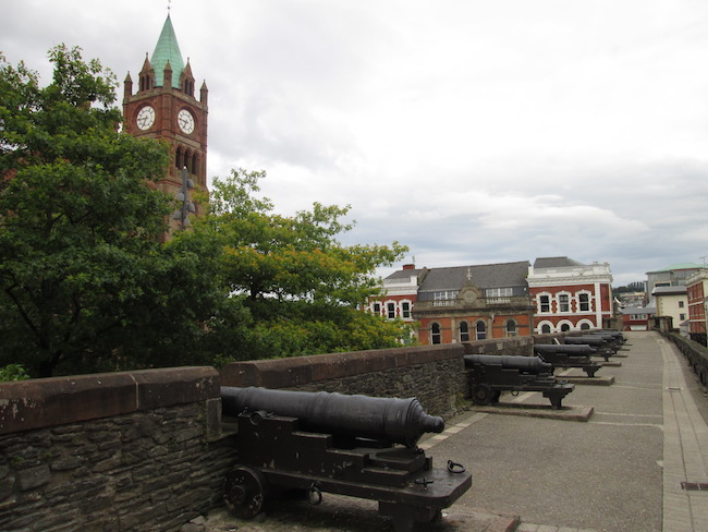 A view from the pathway along the city wall