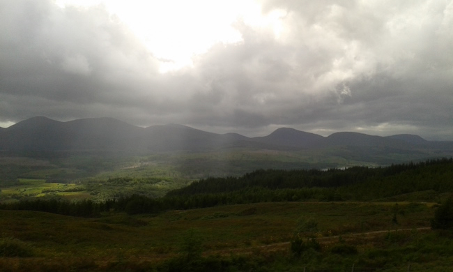A beautiful view from the Highlands Tour
