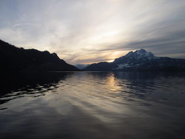 Dusk on Lake Lucerne