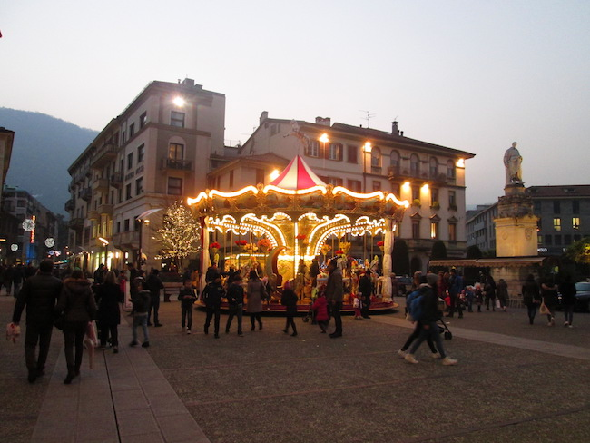 One of the main squares in Como