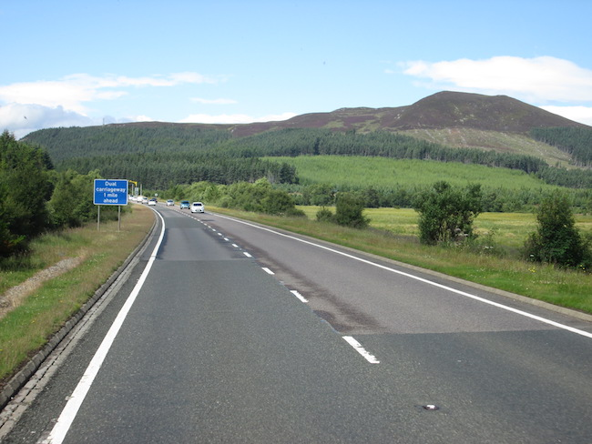 I had a fantastic view of our progress through the Highlands!