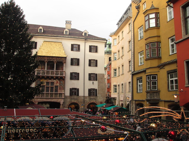 Golden Roof and Christmas Market, Innsbruck, Austria