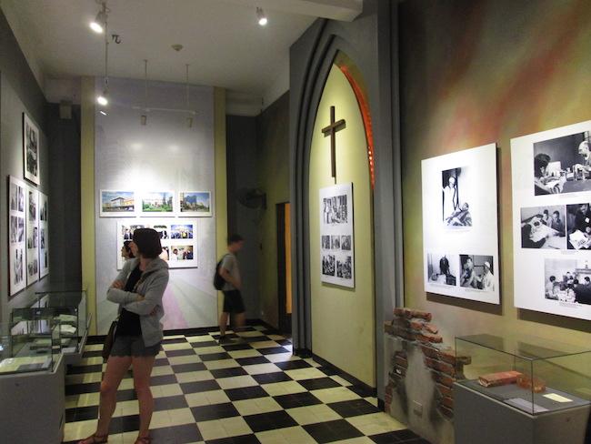 Part of the Vietnam War exhibit