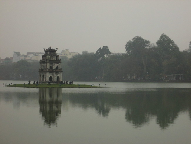 The Turtle Tower on Hoan Kiem Lake