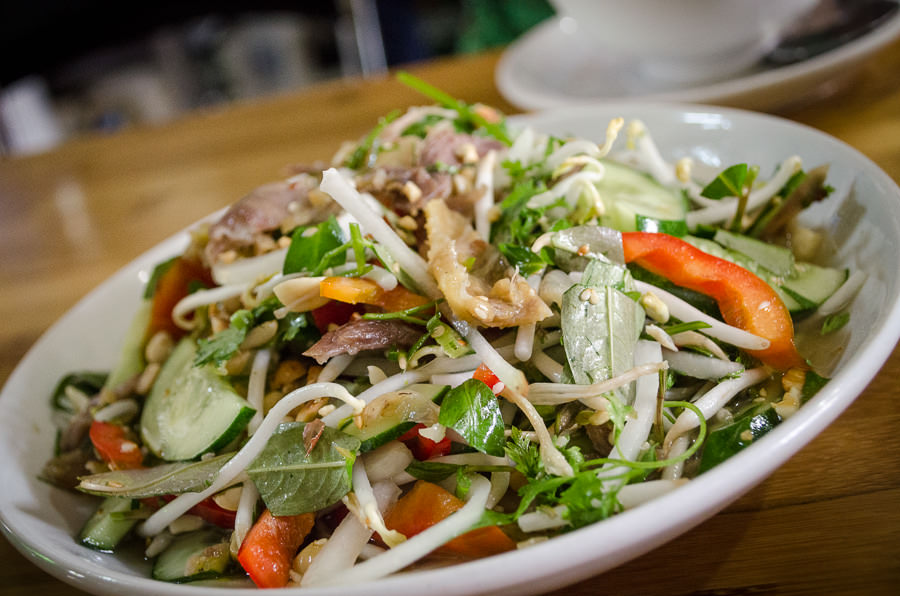 A fresh Vietnamese salad.