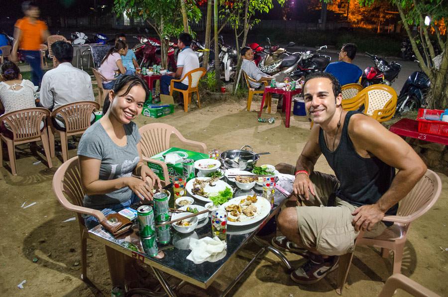 Adrian and Trang at Vietnamese BBQ