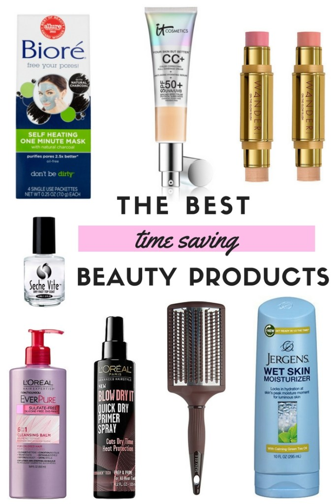 THE BEST TIME SAVING BEAUTY PRODUCTS | Are you always in a rush in the morning? Would you like to spend more time relaxing, rather than getting ready? In this blog post, I share some of my best tips and products to save you time and get you ready fast. Click through to get the skinny! BEST BEAUTY PRODUCTS THAT SAVE TIME | BEAUTY TIME SAVERS | MULTI TASKING BEAUTY PRODUCTS | BEAUTY PRODUCTS THAT REALLY WORK | BEST DRUGSTORE BEAUTY PRODUCTS | MUST HAVE BEAUTY PRODUCTS |