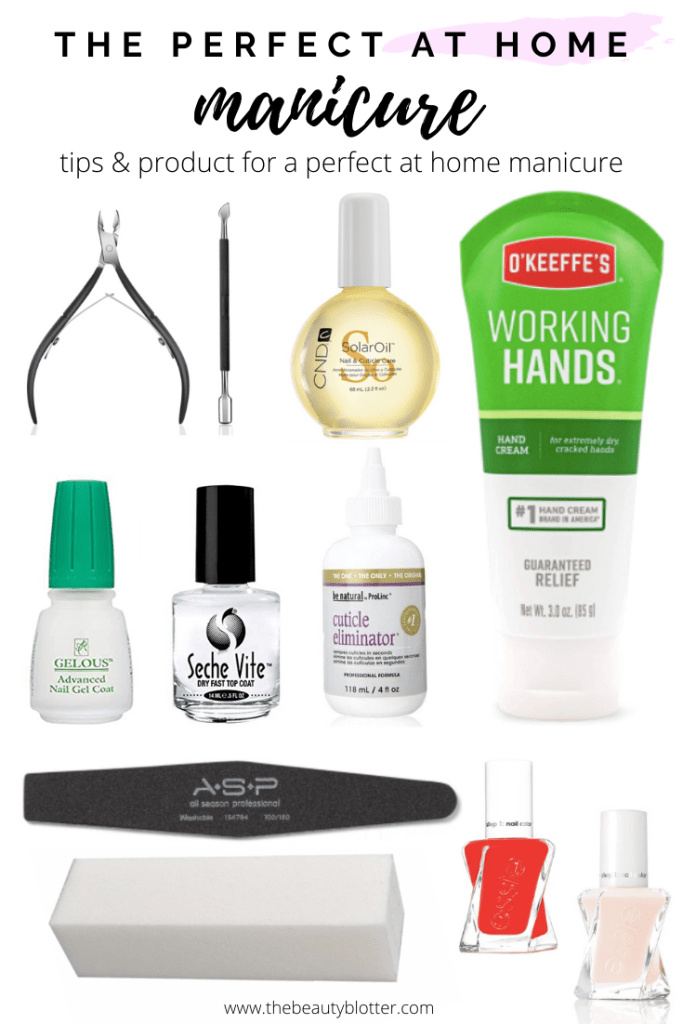 THE BEST PRODUCTS FOR A PERFECT AT HOME MANICURE |  I am sharing my best tips & product recommendations for how to do your nails at home, including step by step instructions and a video tutorial. #athomemanicure #diymanicure