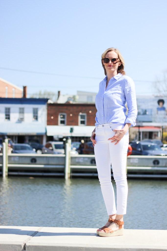 A SUMMER STAPLE - THE LINEN SHIRT | summer, linen, shirt, versatile, outfit, women's, travel, beach, every day, mom outfit ideas, modest