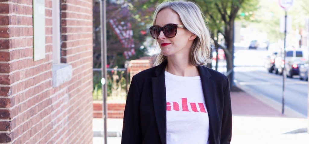 I am sharing a couple of outfit ideas on how to wear a graphic tee on the blog today.