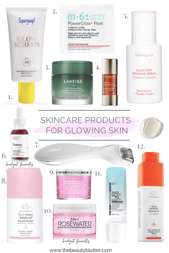 MY FAVORITE SKINCARE PRODUCTS FOR GLOWING SKIN | I am sharing the best skincare products to achieve glowing skin for sensitive and mature skin types with rosacea.