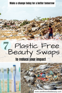 Plastic Free Beauty Swaps www.awelltravelledbeauty.com
