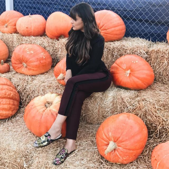 Channeling my inner Blair Waldorf at the Pumpkin Patch totallynormalhellip