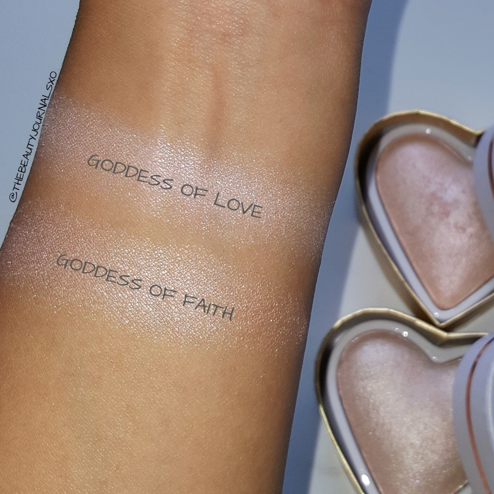 ... Makeup Revolution Blushing Hearts Highlighters Swatches