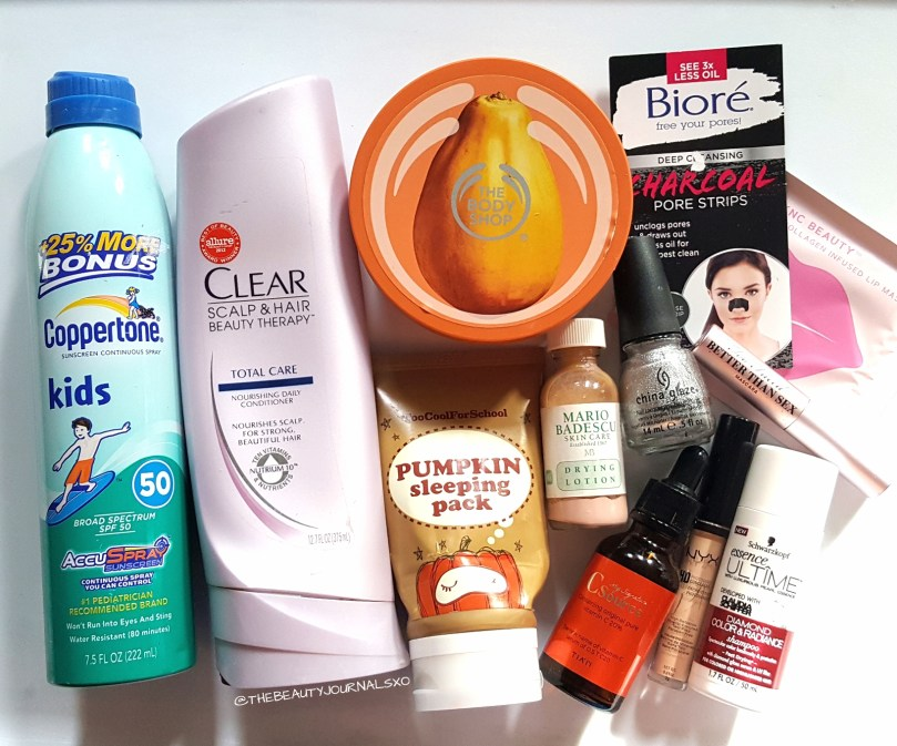 November Monthly Empties and Reviews