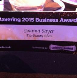 The Beauty Room Essex at the Havering Business Awards