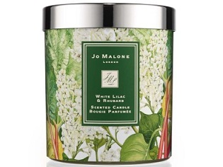NEW: THE JO MALONE LONDON WHITE LILAC + RHUBARB CHARITY HOME CANDLE