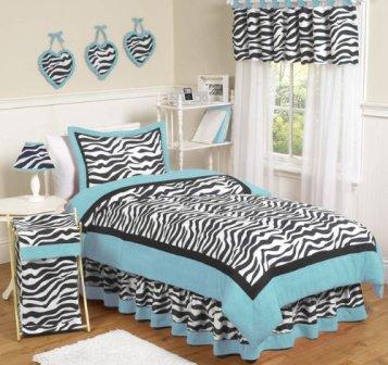 funky-zebra-print-bed-set