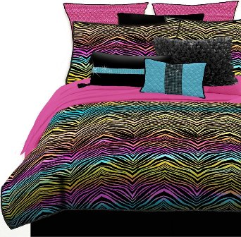 rainbow-color-zebra-print-bedding-set