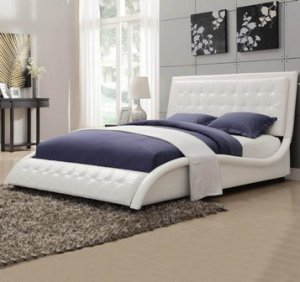 Sleigh Bed – King, Queen, Twin, Upholstered