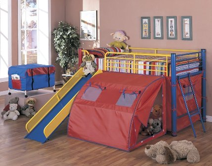 Bunk Bed With Slide Add Some Fun To The Kids Room