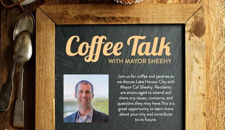 Coffee with the Mayor and City Manager on Facebook Live ~ June 5th