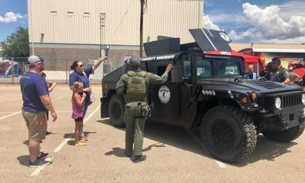 Humvee Stolen from Mohave County Sheriff's Office rams Kingman Police vehicles