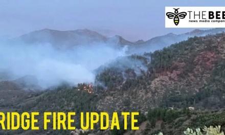 Ridge Fire burns in the Hualapai Mountains south of Kingman