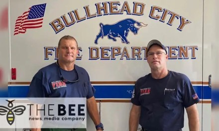 Bullhead City Fire Department crew heads out to assist with the Ridge Fire