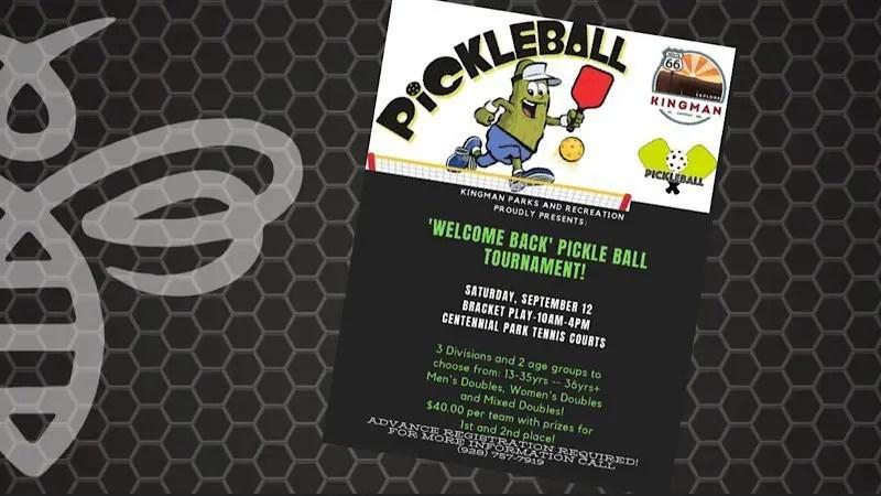 'Welcome Back' Fall Pickleball tournament!