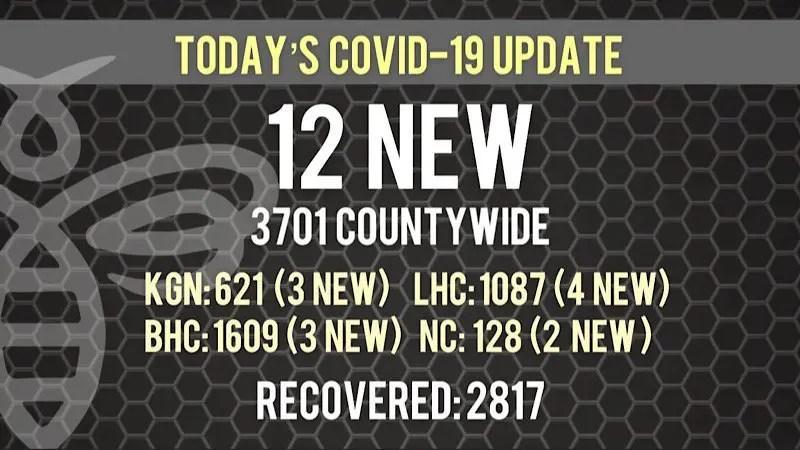 12 COVID-19 Cases