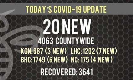 20 New COVID-19 Cases