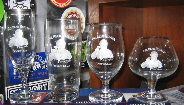 Les verres du Beer Hunter