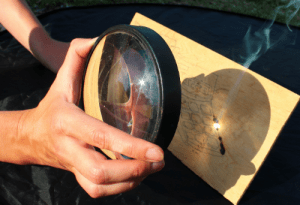 Read more about the article Fire from Sunlight with a magnifying glass is possible?
