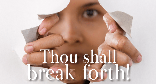 Thou shall break forth