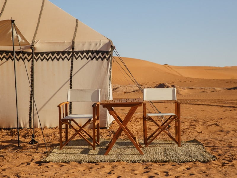 Seating and Table Outside Tent at the Moroccan Berber Camp