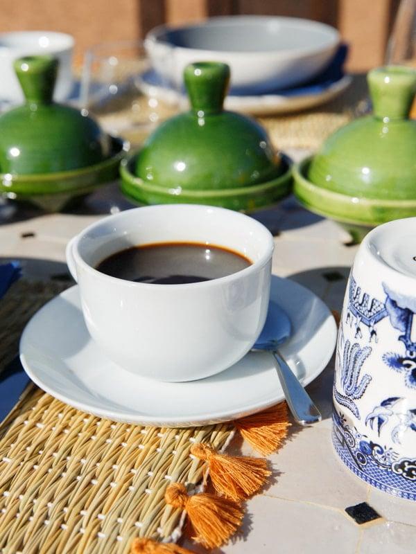 Morning Coffee Served at Erg Chigaga Sahara Camp